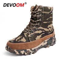 2018 Winter Soldier Outdoor Shoes Men Waterproof Camouflage Boots Military Tactical Boots Male Fur Botas Tacticas Plus Size 46