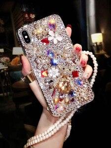 Image 5 - Mode P20 Pro Diamant Weiche TPU Kristall Strass Glitter Telefon Fall Für Huawei P30 Pro P30 P20 Lite Abdeckung mit schmuck Strap