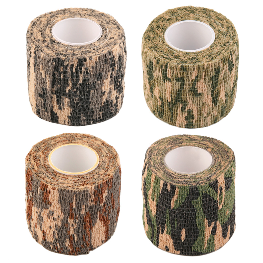 1 Roll Men Army Adhesive Camouflage Tape Stealth Wrap Outdoor Hunting drop shipping