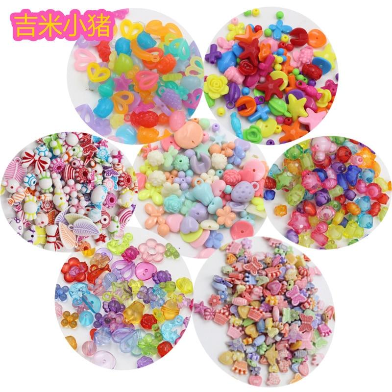 50pcs Beads Toys For Children Girl Gift DIY Orbits Creativity Bracelet/Jewelry Making Baby Kids Lacing Toy Needlework Wholesale