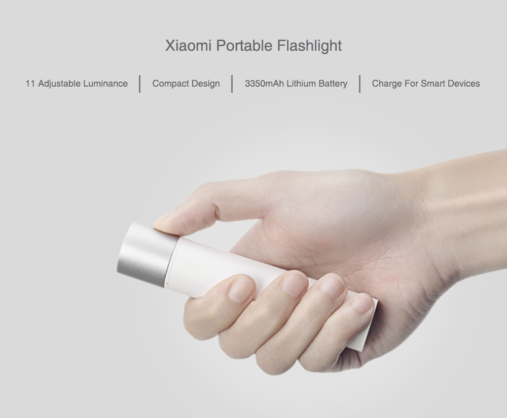 Xiaomi Portable Flash light 11 Adjustable Luminance Modes With Rotatable Lamp Head 3350mAh Lithium Battery USB Charging Port 1