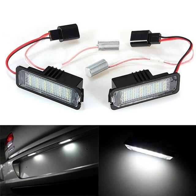 2x White Error Free LED Number License Plate Light For VW GOLF MK 4 5 6 Passat B6 EOS VW01 3D0943021A 99763162000 99763162001