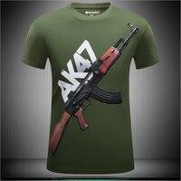 WIPU 2017 New Summer Fashion AK47 T Shirt Men O Neck Short Sleeve T Shirt Top