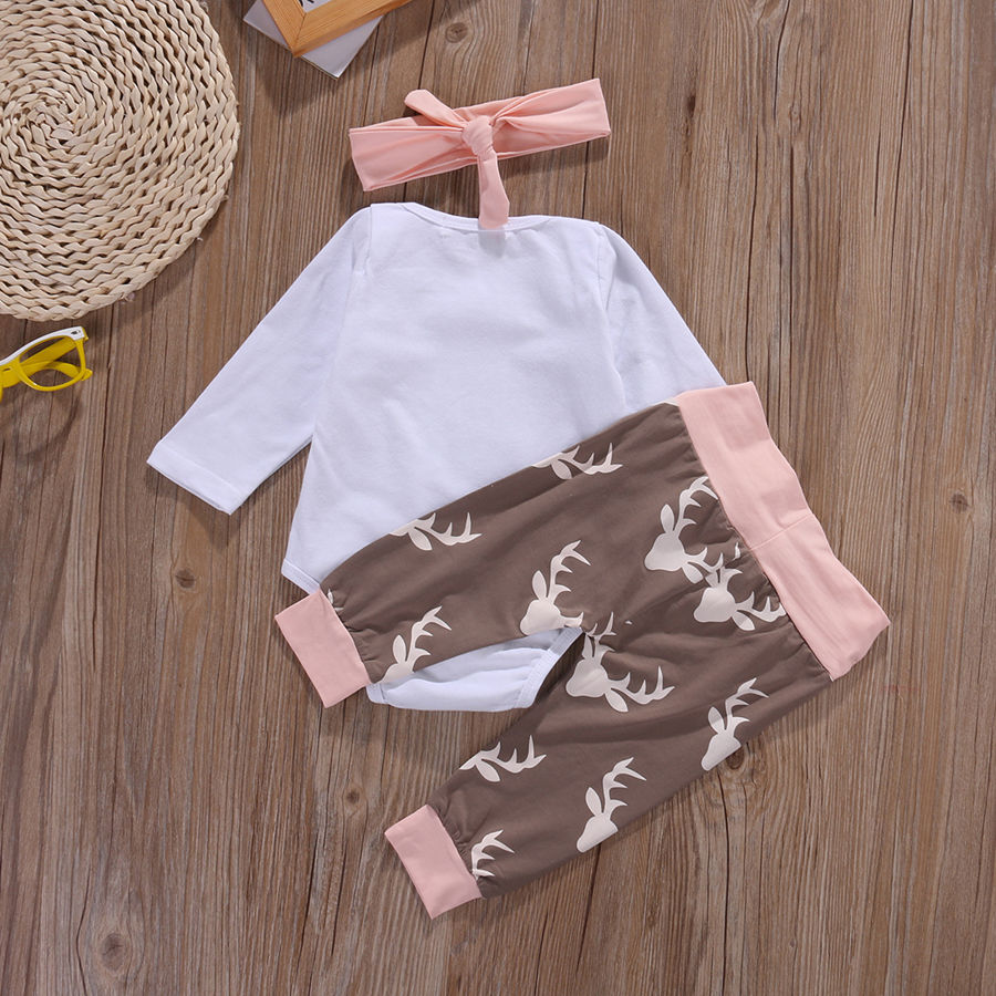 543d505fa Christmas Newborn Infant Early Baby Girl Clothes Set Tops Pants ...