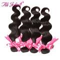 Beauty forever xuchang longqi belleza del pelo brasileño de la virgen del pelo teje 4 bundles brasileño onda del cuerpo ondulado extensión del pelo humano