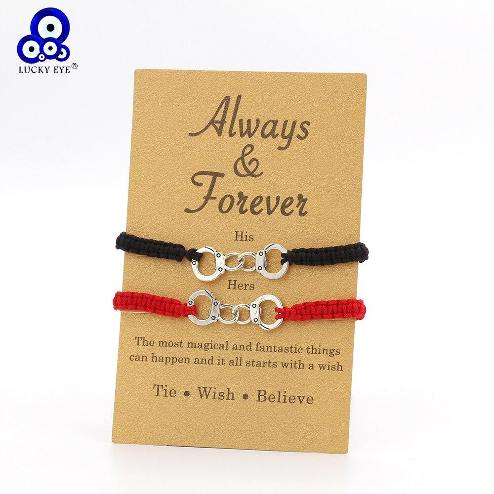 bracelet couple porte bonheur