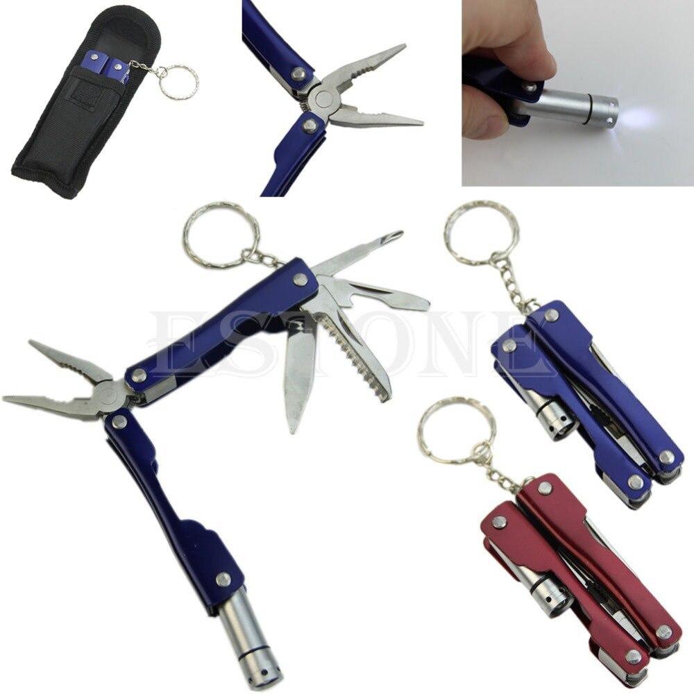 Portable 9 In 1 Stainless Steel Multi Tool Plier Outdoor Pocket Mini Camping Kit Camping Fidget Spinner Survival EDC Carabiner