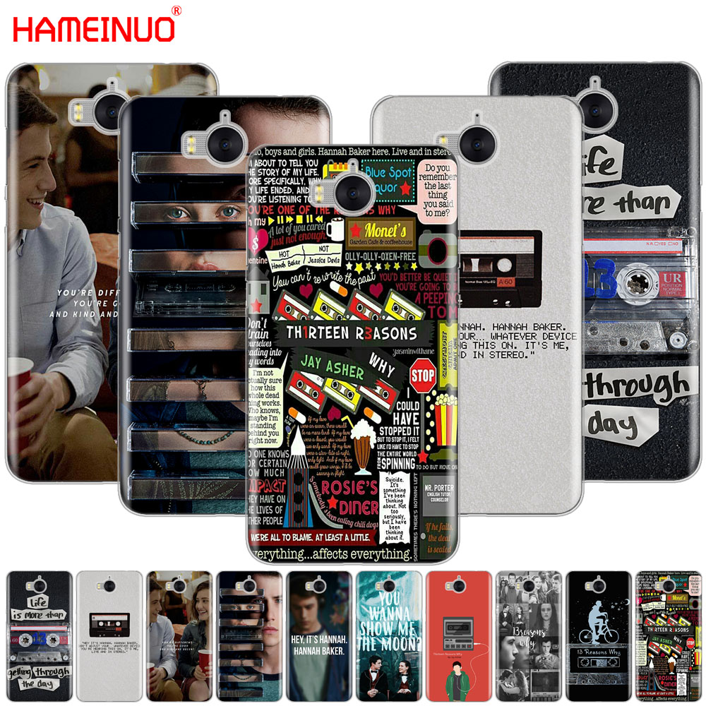HAMEINUO Thirteen 13 Reasons Why Quotes cell phone Cover Case for huawei honor 3C 4X 4C 5C 5X 6 7 Y3 Y6 Y5 2 II Y560 2017