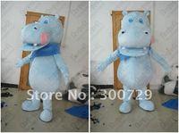 Экспорт высокое качество, голубой цвет шарф Бегемот талисмана riveer лошадь костюмы