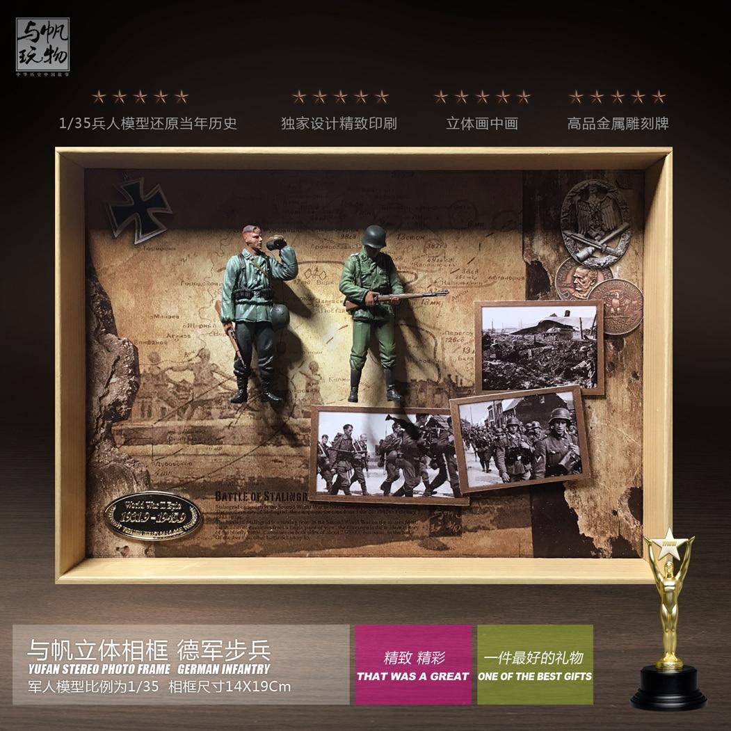 YUFAN Modell Stereo Bilderrahmen 1:35 Deutsch infantryman fertigen ...