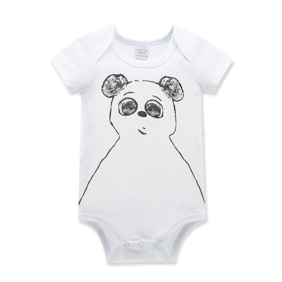 Summer Bebe Triangle Onesie Newborn Baby Girl Clothes Short Sleeve Animal Printing Style Body Infantil Bodysuit Overalls HY2035
