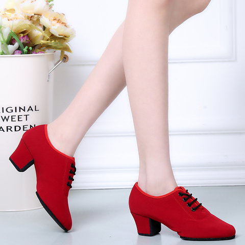 Sports Shoes Canvas Latin Dance Shoes Woman Adult Modern Ballroom Dance Shoes Teacher Shoes Oxford With Two Points Sneakers Multan