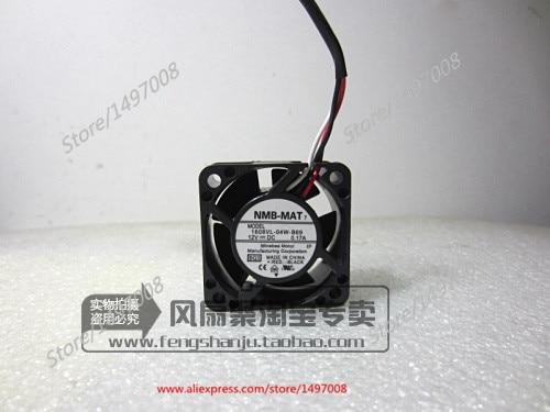 Free Shipping For  NMB 1608VL-04W-B69, BQ3 DC 12V 0.17A, 40x40x20mm 3-wire 40mm Server Square cooling fan