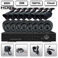 700TVL HD Camera 16CH Full 960H Recording DVR Security CCTV Surveillance System