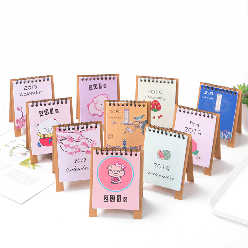 2019 Pig Diy Animals Series Mini Table Calendars Desk Calendar Office School Supplies Advent Calendars Festive & Party Supplies