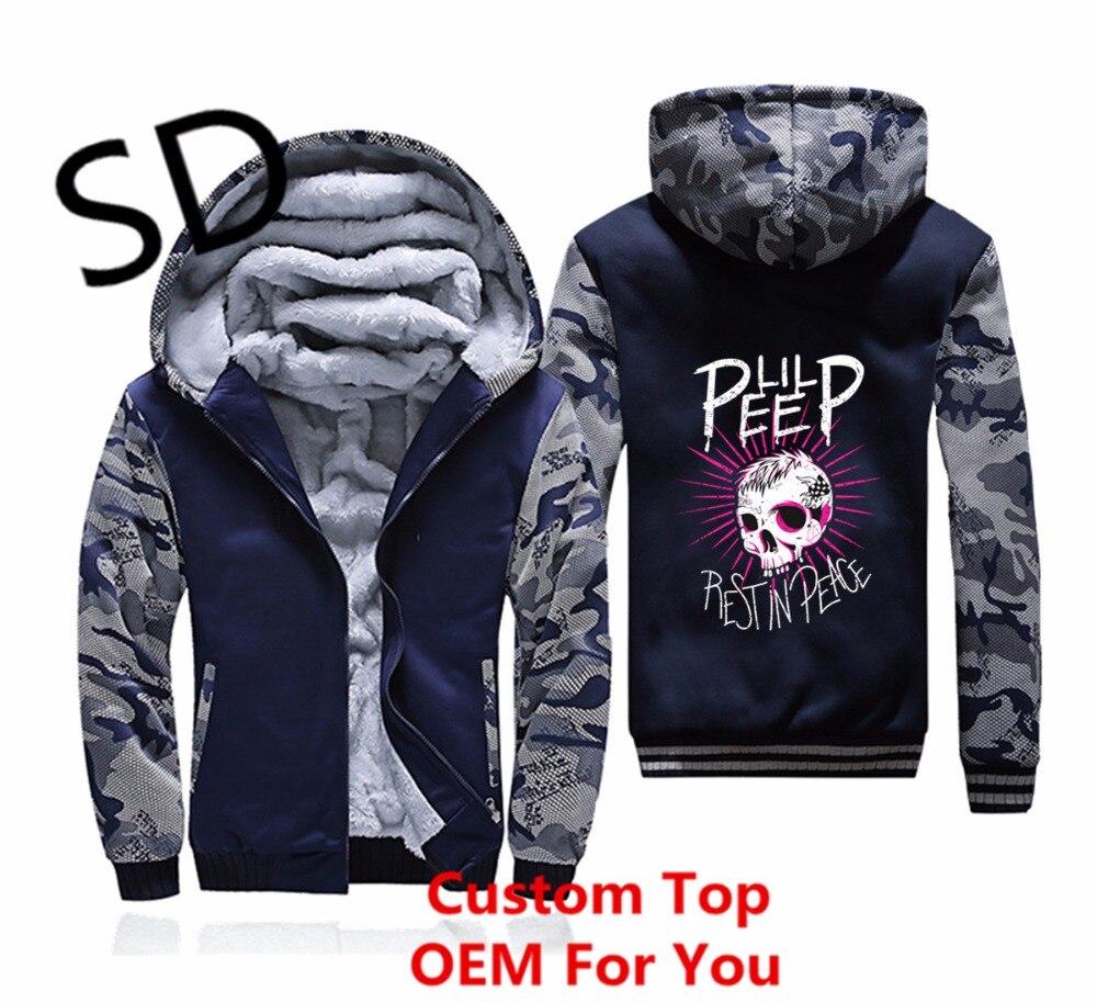Дропшиппинг 3D толстовки Для мужчин RIP открытым дань зимняя куртка Для мужчин пальто Lil открытым толстовка хип-хоп молния камуфляж одежда с к...
