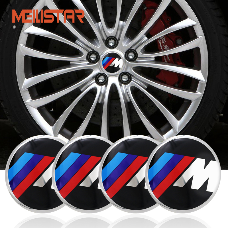 4pc Car M 56mm Car Steering tire Wheel Center car sticker Hub Cap Emblem Badge For BMW M3 M5 X1 X3 X5 X6 E36 E39 E46 E30 E60 E92 cool car auto decoration badge stickers m logo metal 3d car sticker for bmw m3 m5 x1 x3 x5 x6 e36 e39 e46 e30 e60 e92 all model