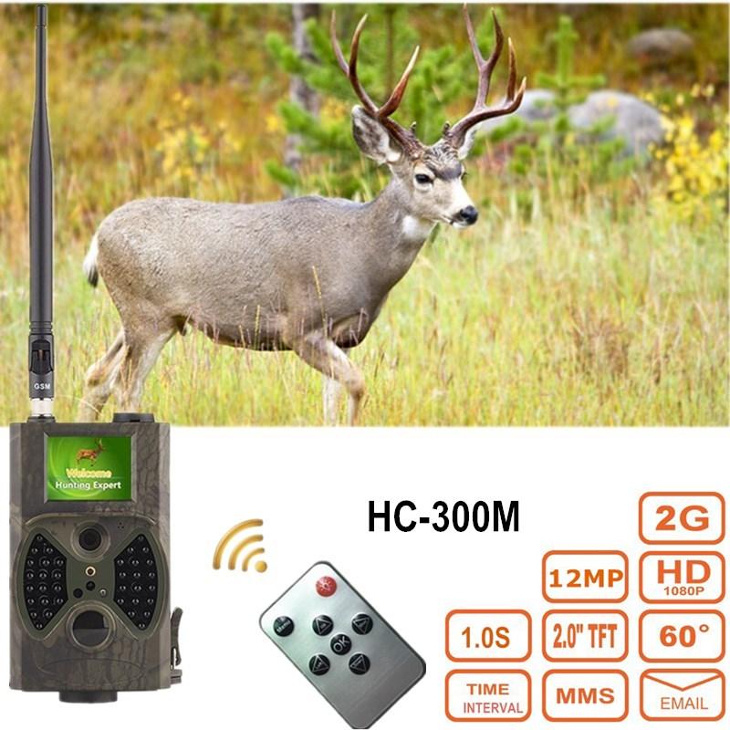 Deer Photo Trap Digital Hunter Trail Camera HC300M MMS Scout Wildlife Chasse Night Vision Black IR LED Wild Cameras for Hunting цена