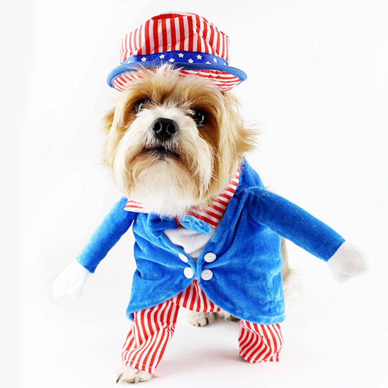 + 1 Hat Dog Clothes Funny Costumes Pet Clothes for Small Dogs Christmas Yorkies Terrier Chihuahua Clothes 10c20