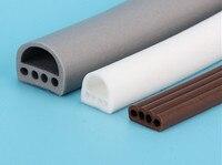 9*6 мм 5 м пористые d-типа силиконовые уплотнители полосы для двери/окна звукоизоляционные полосы самоклеющиеся ленты 3 цвета