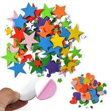 1 лот микс Звездные сердечки поролоновые наклейки детские игрушки набор для скрапбукинга. Ранние образовательные DIY. Детский сад искусство и ремесло. OEM торговля