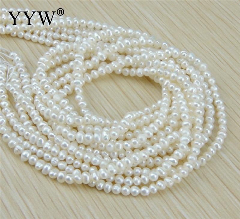 Grade AA 3-4mm Natural Freshwater Pearl Beads White Potato Pearl Loose Beads For DIY Necklace Bracelat Jewelry Making Finding недорго, оригинальная цена