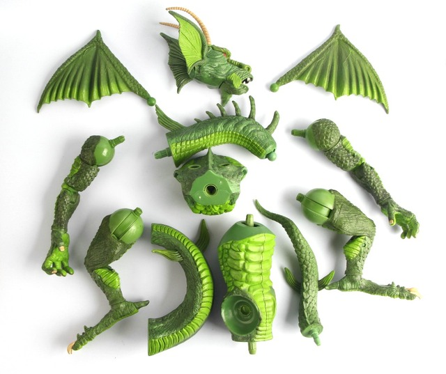 Marvel Legends Fin Fang Foom BAF Build a Figure Complete Authentic 15 inch Tall Big Action