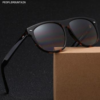 d87629c048 De vidrio marrón lente Plaza hombres gafas de sol de moda de gran tamaño  gafas Acatate