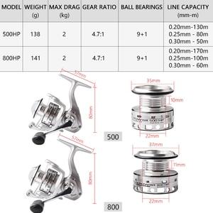 Image 3 - ANYFISH MICRO POWER fishing reel spinning 500/800 pesca carretilha small fishing wheel Winter Ice Fishing mini spinning reels