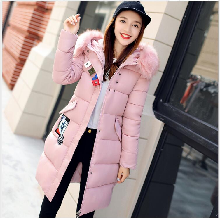 The new winter in the long paragraph cotton women Korean version of Slim elegant thickening down jacket warm  female yagenz 2017 new soft sister winter coat korean version of the long paragraph down jacket cotton winter thick loose cotton