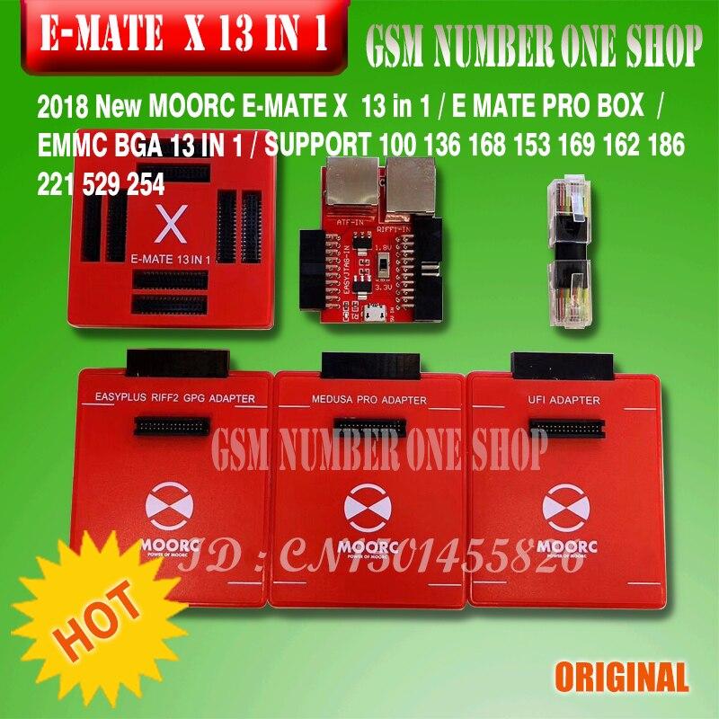 2019 Original New Moorc E-socket Moorc E Mate Pro Box E-mate X Emmc Bga 13 In 1 Support 100 136 168 153 169 162 186 221 529 254 Telecom Parts