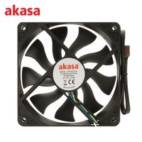 Akasa 12CM 4Pin Cooling Fan PWM Cooling Fans Silent CPU Cooler 12V S FLOW Fan Heat