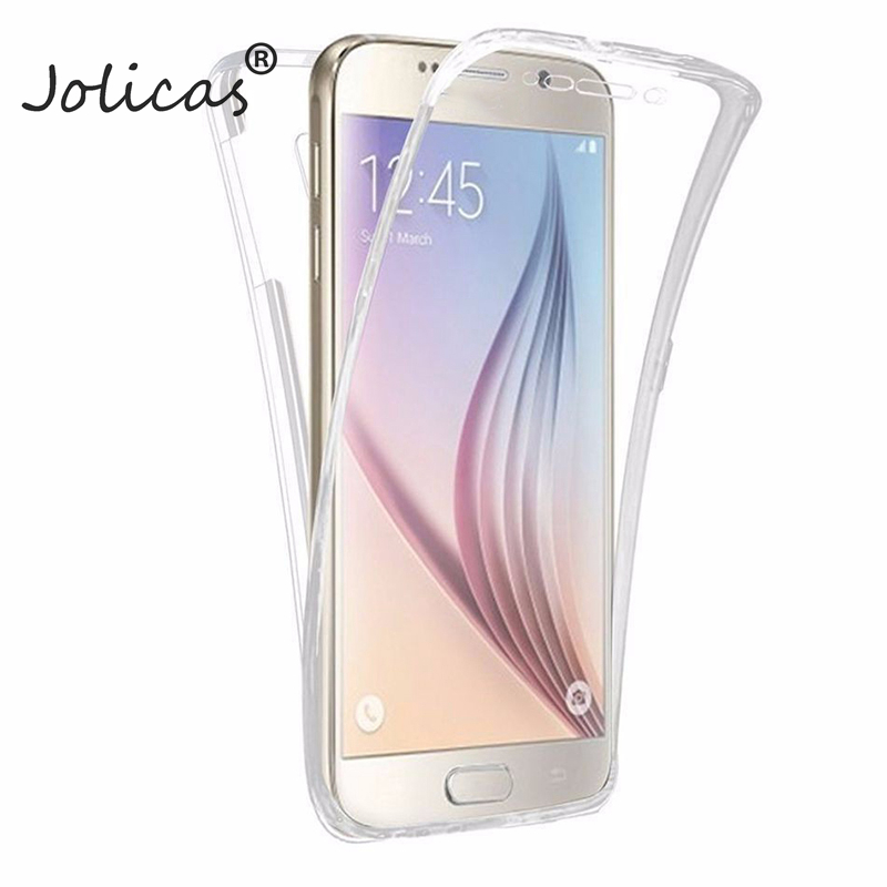 360 Full body TPU Case For Samsung Galaxy S8 Plus S3 S4 S5 S6 S7 Edge A3 A5 2017 A7 J1 <font><b>2016</b></font> <font><b>J3</b></font> J5 J7 Grand Prime Cover Back Case image