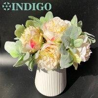 Unikalne Miler Dusty Różowy Narzeczonej Bankietowa-DIY Piwonia Kwiat Liść Kwiat Wedding Party Tabeli Dekoracji Kwiat Darmowa Wysyłka
