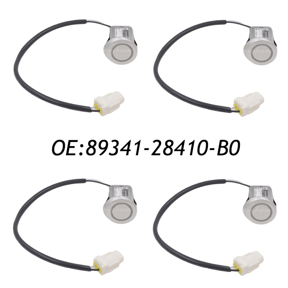 где купить 4PCS 89341-28410-B0 89341-28410 PDC Parking Sensor For Toyota Estima Previa ACR30 2003-2006 04 05 дешево