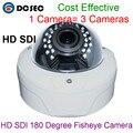 Melhor Qualidade 1080 P Full HD Panorâmica HD SDI Da Câmera 180 grau Fisheye CCTV Câmera de 2.0 Mega Pixels HD-SDI Vandalproof Dome câmera