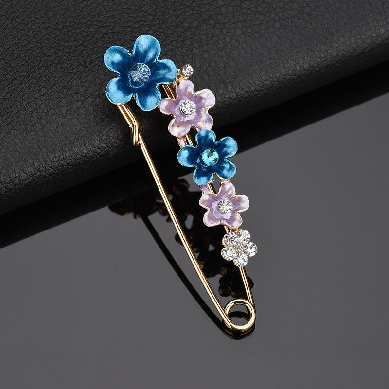 High Quality 1 Pcs Fashion Colorful Flower Brooches For