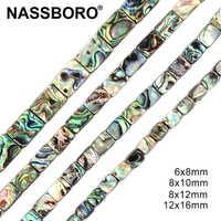Hohe Qualität Rechteck Form Natürliche Abalone Shell Perlen Perles Nautral Stein Perlen für Schmuck Machen Diy Perle Großhandel Geschenk