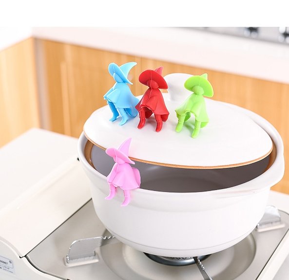 Anti Overflow Pot Water Soup Gadgets Raise Cover Lid Spill Proof Tool Holder Silicone Prevent Soup From Overflowing