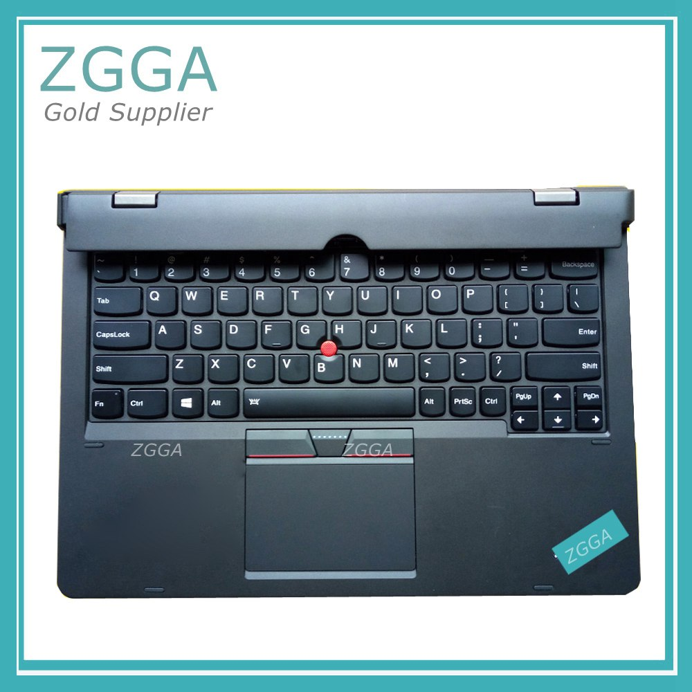 GENUINE NEW For Lenovo ThinkPad X1 Helix 2nd 20CG 20CH Ultrabook Pro Keyboard US Layout Backlit Palmrest Cover Big Enter new original for lenovo thinkpad yoga 260 bottom base cover lower case black 00ht414 01ax900