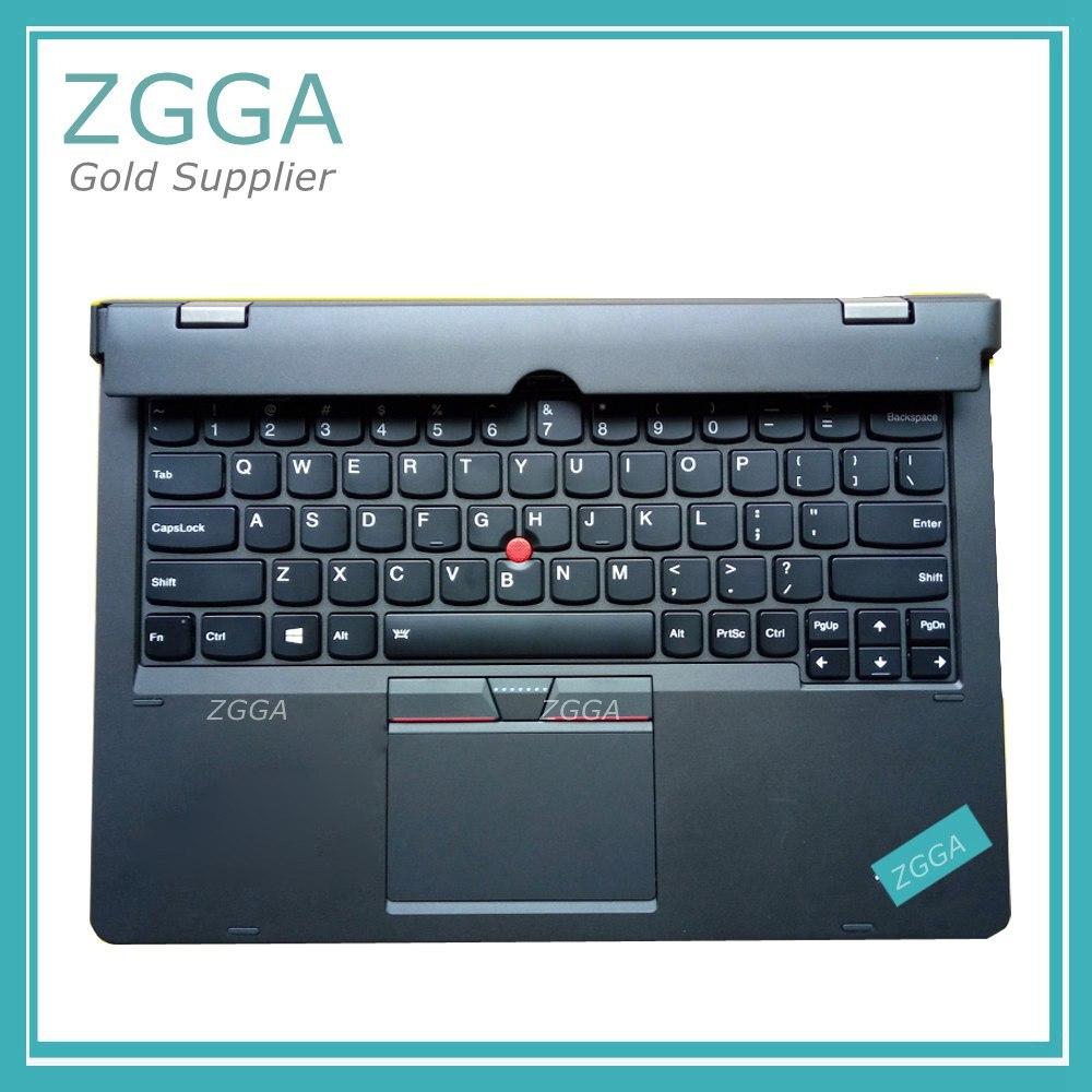 Véritable nouveau pour Lenovo ThinkPad X1 Helix 2nd 20CG 20CH Ultrabook Pro clavier US mise en page rétro-éclairé couvre-palmrest grande entrée
