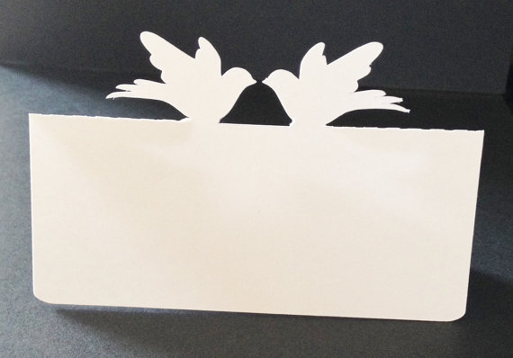 Flying Couple Birds Place Cards Holiday Wedding Dinner Party