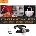 Alta Qualidade Preto Car Carga Trunk Bag Gancho Titular Hanger Para VW para passat b6 cc para jetta para mk5 para audi a4 s4