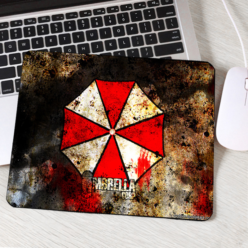 Useful Mairuige Resident Evil Series Video Game Movie Pattern Mousepad Umbrella Logo Printed Mini Pc Laptop Gaming Mouse Mat Table Pad Mouse Pads