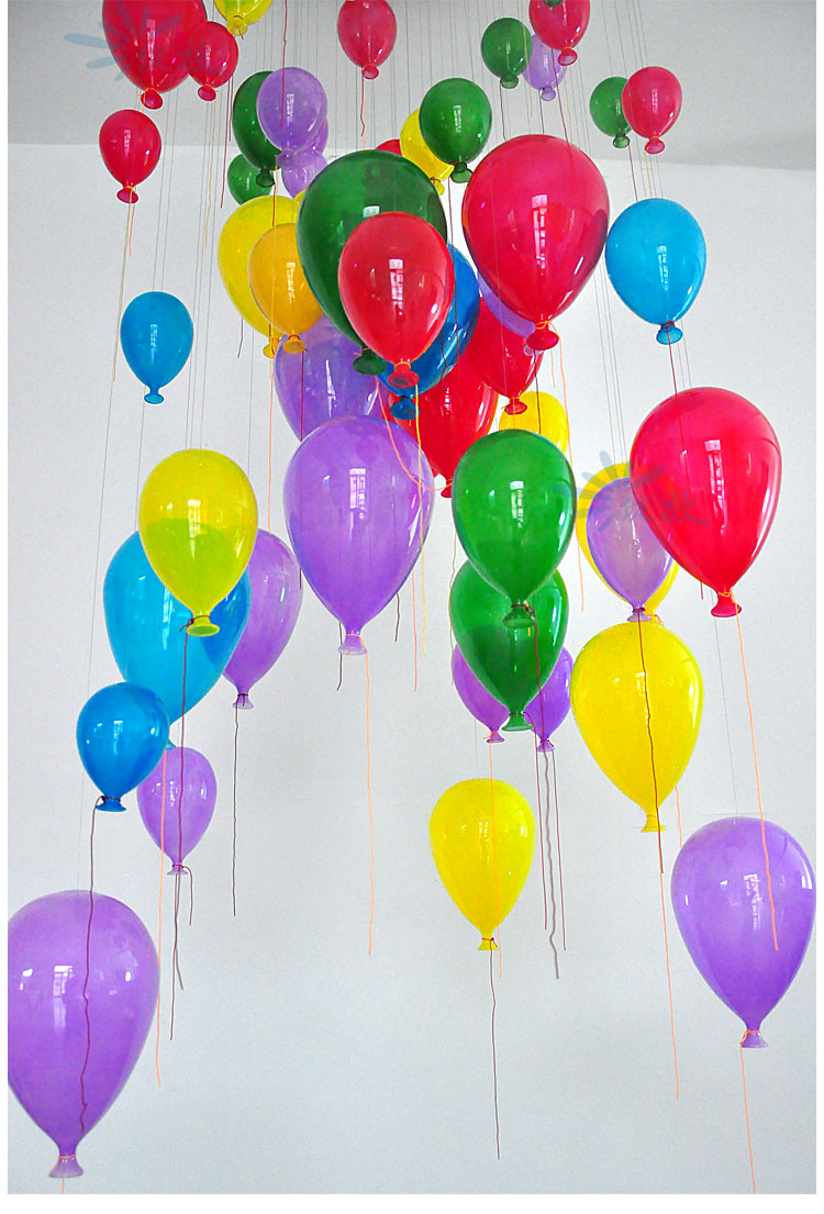 Модная современная светодиодная детская спальня красочная подвеска в виде шара светильник разноцветный стеклянный шар для столовой лестничный светильник - 4