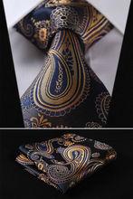 Velice kvalitní hedvábná modro-zlatá kravata pro muže