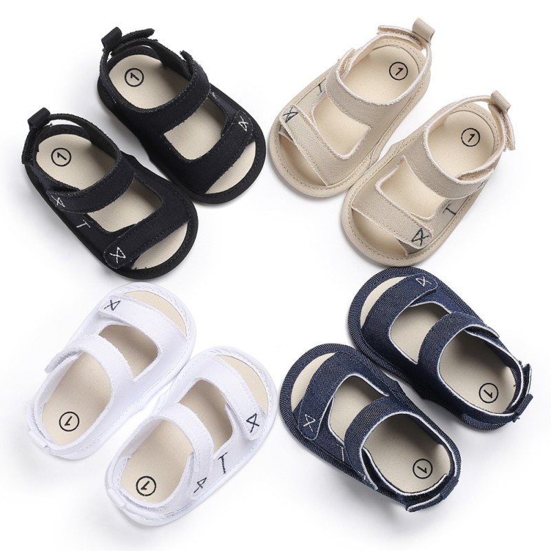 New Summer Kids Baby Boys Sandals Canvas Children Sandals For Boys Casual Toddler Shoes Fashion Breathable First Walkers