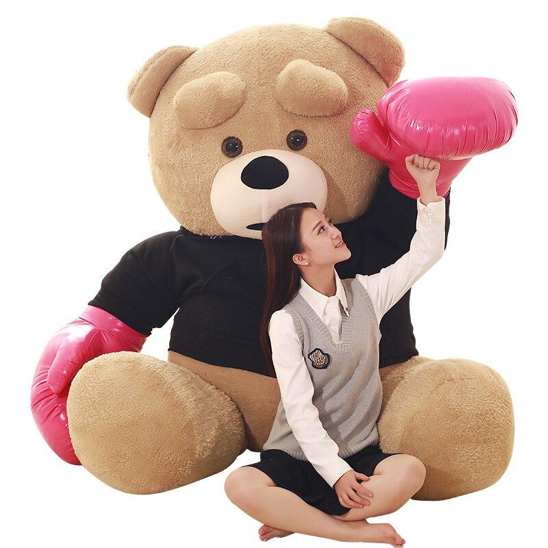 1 шт., 240 см, Kawaii Spuer, большой размер, боевой медведь, мягкие плюшевые игрушки, детские игрушки, огромное плюшевое животное, куклы, хорошее качество, подарки - 3