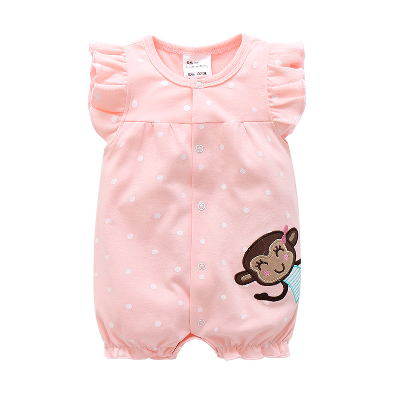 Baby Rompers Summer Baby Girls Clothing Cartoon Newborn Baby Clothes Roupas Bebe Short Sleeve Baby Girl Clothes Infant Jumpsuits penguin fleece body bebe baby rompers long sleeve roupas infantil newborn baby girl romper clothes infant clothing size 6m