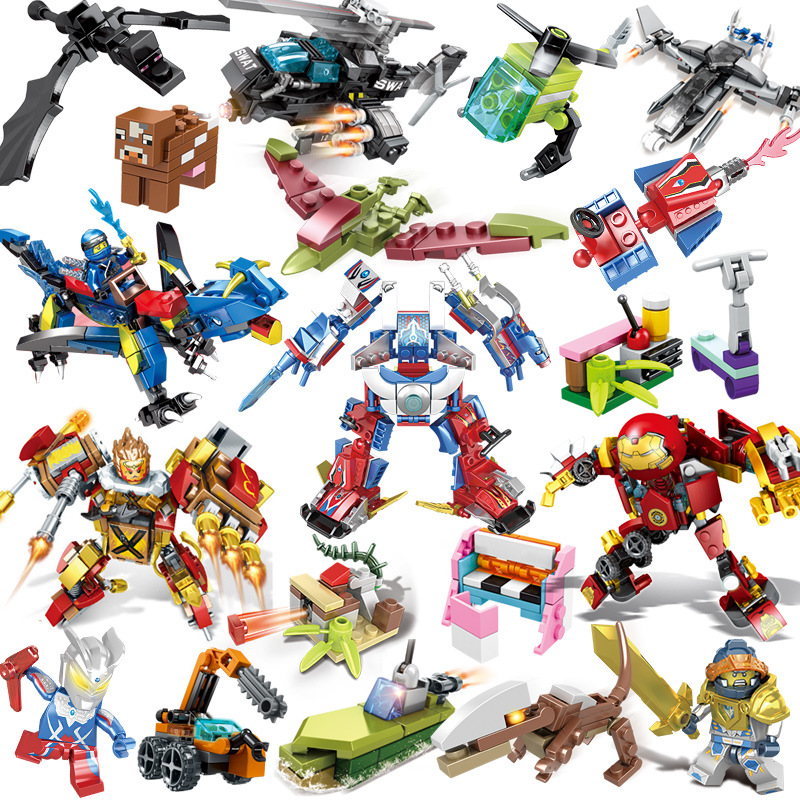 Veel Stijl 10 In 1 Diy Puzzel Bouwstenen Mini Stad Educatief Speelgoed Voor Kinderen Stad Bouw Speelgoed